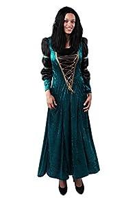 Marco Porta 3343L - Burgh Señora de disfraces de Halloween, tamaño L, verde/negro