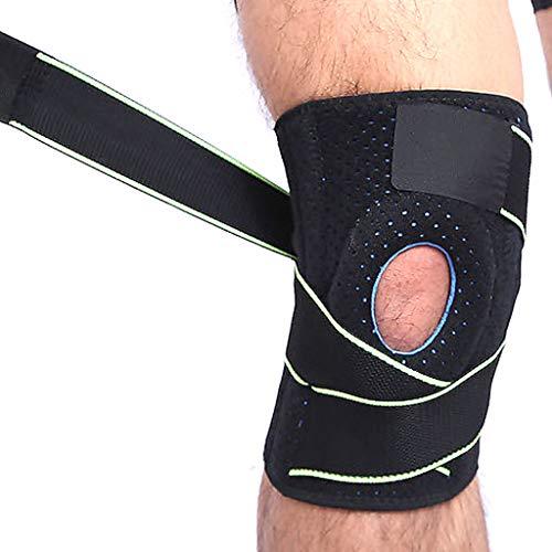 DONGBALA Knie-Patella-Klammer, für Männer Frauen Knie-Stabilisator-Gehen-Verletzungs-Erholung Rutschfeste justierbare Knie-Unterstützung,Green