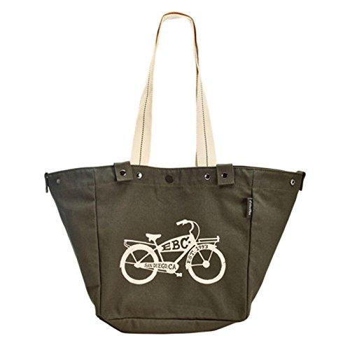 Electra Bicycle Electra Trage- Korbtasche Fahrrad mit Motiv Befestigung Transport Baumwolle, 5333 Grün