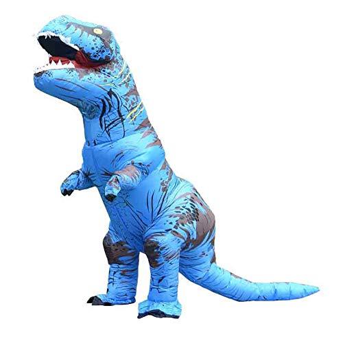 Y&M Kostüm Jurassic World T-Rex Aufblasbares Kostüm für Erwachsene mit Multicolor,Blue,Adult