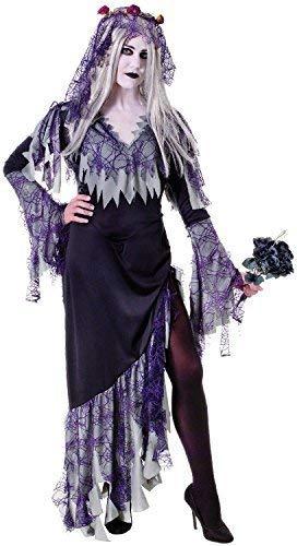 Corpse Kostüm Bride Dead - Fancy Me Damen-Zombie Corpse Bride Dead Gruselig Halloween Horror Kostüm Kleid Outfit UK 10-14