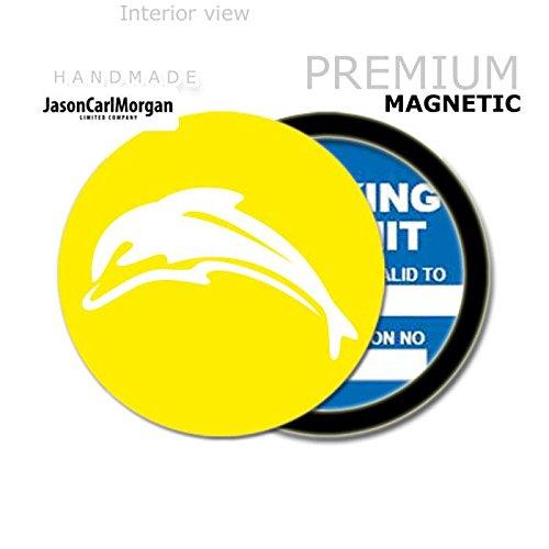 JCM Delfino Mot License porta disco orario, colore: giallo