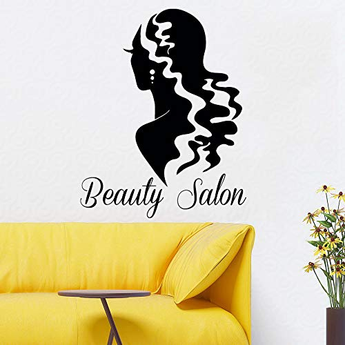 �nheitssalon Wandaufkleber Vinyl Schönheit Frau r Kunstwand Mädchen Zimmer Mode Design Haus Wand Deca 72x57 cm ()