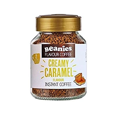Beanies Creamy Caramel Flavoured Instant Coffee 50 g (Pack of 6) by Beanies Coffee