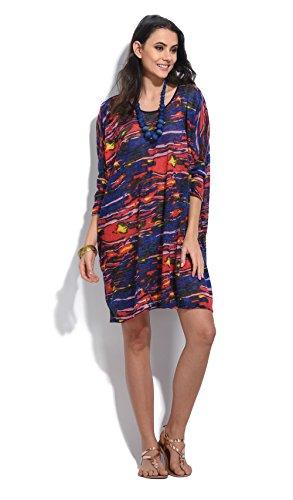 Blau/Multicolour Blusenkleider Damen ()