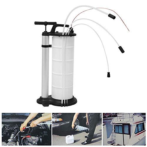 DiLiBee - Pompa Manuale per Estrazione di Olio e Liquido, 9 l, per Auto, Carburante, Benzina, Liquido refrigerant