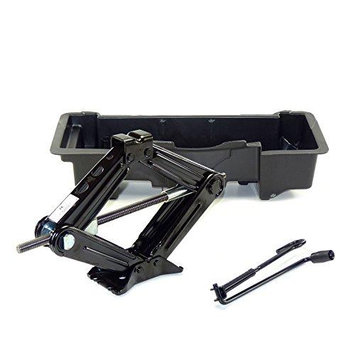Wagenheber mit Kurbel und Einsatz für Kofferraum original, komplettes Set