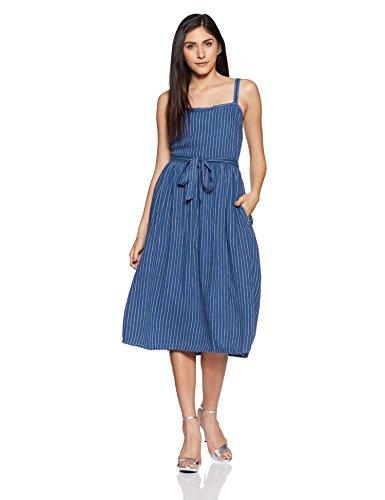 Marks & Spencer Women's A-Line Midi Dress (T428783BLUE_6_SHT_9076266)