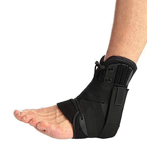 Fußbandage Knöchelbandage Fußgelenkstütze Unisex Knöchel-Stabilisator,Ideal für Laufen, Fußball, Badminton und Tennis hilft, Verstauchungen vorzubeugen oder Sich Davon zu erholen Schwarz (S)