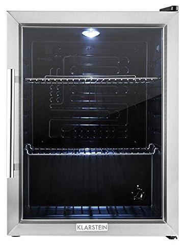 Klarstein 10027672 Autonome 65L B Noir, Acier inoxydable réfrigérateur - réfrigérateurs (Autonome, Noir, Acier inoxydable, Droite, 65 L, 42 dB, LED)