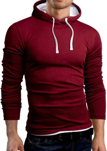 Grin&Bear SLIM FIT T-Shirt langarm Hemd, Burgund, Größe M