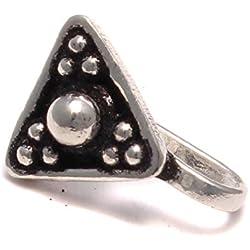 Triángulo pendientes clip plata de ley 925, falso pendientes en estilo antiguo, joyería medieval, pendientes clip, pendientes sin agujero