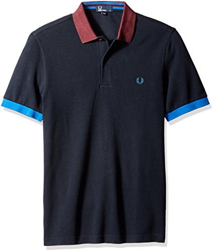 Fred Perry Authentics Colour Block Polo Navy