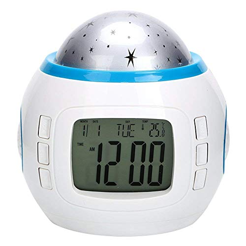 Dubens Reloj despertador digital LED Wake-Up Luz Luz