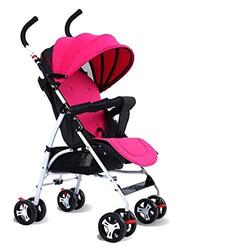 Baby's Sommer Kinderwagen Outdoor Travel Super Light Portable Trollers Falten Carbon Kinderwagen für 0-36 Monate , pink