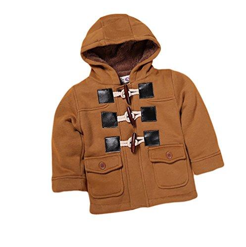 CHENGYANG Bambino Ragazzo con Cappuccio Invernale Outwear Maniche Lunghe Bambini Abbigliamento Cappotti Cachi Asia 80