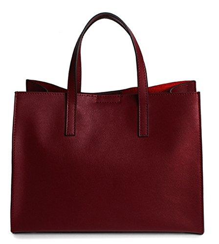 Xinmaoyuan Borse donna borsette in cuoio borsetta Leisure Tote grande capacità Ladies borse a tracolla Vino rosso