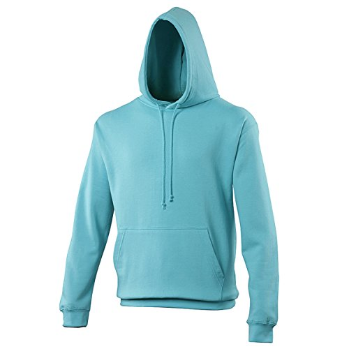 College hoodie Turquoise Surf AWDis Hoods Streetwear Felpa Cappuccio Uomo Turquoise Surf