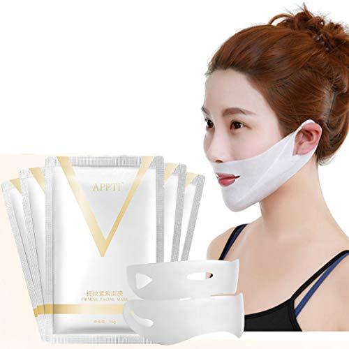 VNEIRW V-förmige dünne Gesicht Hydrotherapie Face-Lifting Maske für Hals und Kinn Heben Anti-Aging, reduzieren Falten und Feine Linien (A)