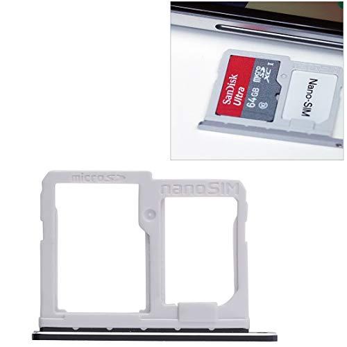 Phone Replacement Parts Handy-Ersatzteile, Sim Kartenfach + Micro SD Kartenfach für LG Q6 / M700 / M700N / G6 Mini (Großauswahl : Sim+Micro SD Card Tray (Black))