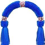 SUNNAIYUAN Metallo Pergola-pianta rampicante Arch Arco con Artificial Rose for la Decorazione di Wedding Garden Pergola Blu