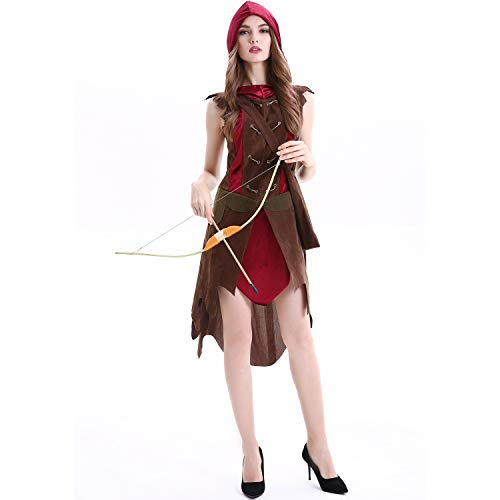 SHENTIANWEI M-XL großen Hof Wald weiblichen Jäger Rotkäppchen Halloween COS primitiven Mann Stammes weiblichen Krieger Kostüm (Color : 1816, Size : L)