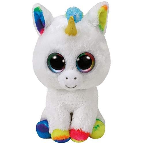 "Beanie Boo Unicorn - Pixy, Unicorn - White/Multicoloured - 24cm 9"""