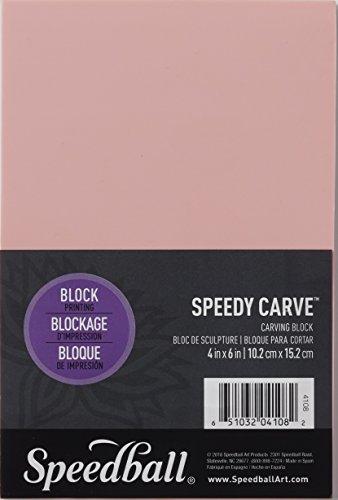 Speedball Speedy-Carve - Blocco per intagliare timbri, Altro, Pink, 4