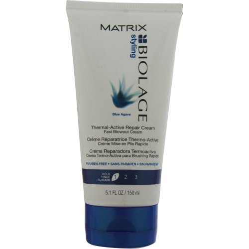 BIOLAGE by Matrix BLUE AGAVE THERMAL-ACTIVE REPAIR CREAM FAST BLOW OUT CREAM 5.1 OZ UNISEX (Package Of 2) by Biolage