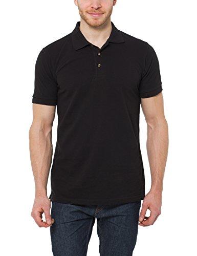 Lower East Mode - Piqué Polo Homme - Noir - L (taille fabricant: L)
