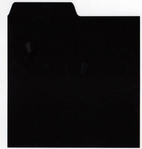 LP-Registerwände, 30,5 x 30,5 cm, mit Reiter A-Z, Schwarz, 50 Stück (Collection Vertikale Box)