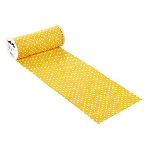 CREApop® Tischband-gepunktet, 20 cm x 10 m, gelb
