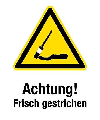 Warnaufsteller inkl. Druck | Achtung! Frisch gestrichen 245 x 620 mm