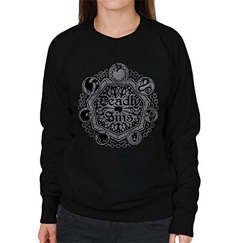 Cloud City 7 Seven Deadly Sins Shield Women's Sweatshirt