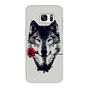 Impressive Rose Wolf Multicolor Back Case Cover for Galaxy S7 Edge