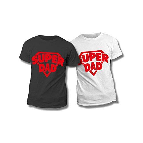 Altra marca t-shirt uomo maglietta nera personalizzata super dad maglia maschile estiva idea regalo per la festa del papà - m