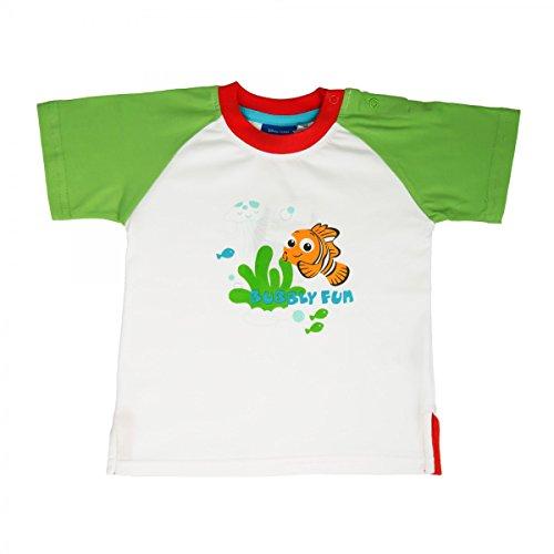 Tshirt Nemo (Disney s Findet Nemo T-Shirt Jungen Mädchen Unisex | Kurzarm | Weiss - Grün | Größe 74)