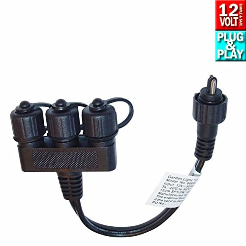 Techmar Garden Lights Plug & Play 3 Way Connectors Test