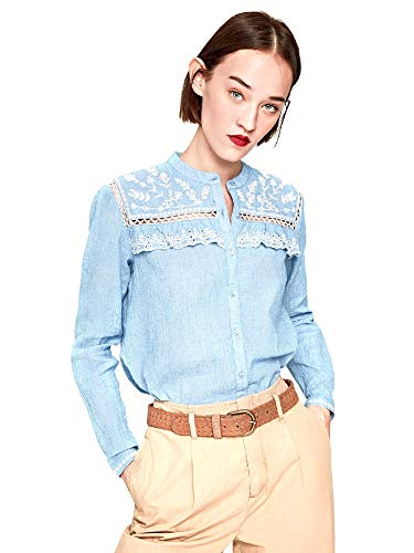 Pepe Jeans PL303331 Camisa Mujeres Azul S