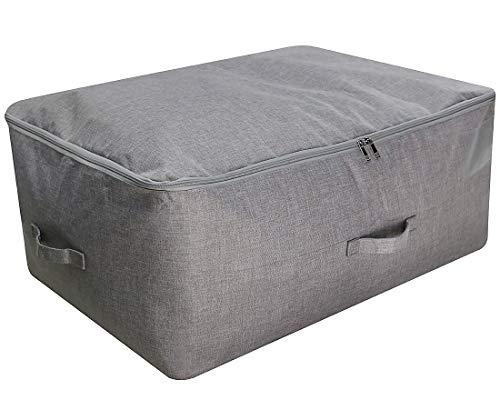 iwill CREATE PRO 70 * 50 * 30 cm, Große saisonale Kleidungsaufbewahrungstasche, Bettdecken, Bettwäsche, Pullover Aufbewahrungsbehälter, Dunkelgrau - Sperrige Pullover