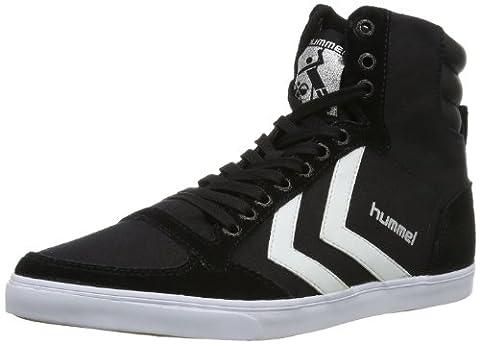hummel HUMMEL SLIMMER STADIL HIGH, Unisex-Erwachsene Hohe Sneakers, Schwarz (Black/White KH), 42 EU (8 Erwachsene