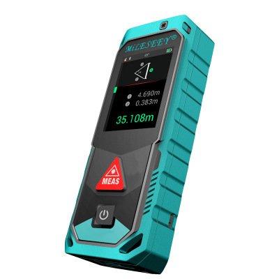 Infrarot-Entfernungsmesser, Elektrische Anzeige, Infrarot-Lineal, Touchscreen aus Gehärtetem Glas, Bluetooth-App, Wasserdicht, Staub- und Fallfest, Elektronisches Messgerät, Infrarot-Messgerät,100M