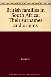 British families in South Africa: Their surnames and origins