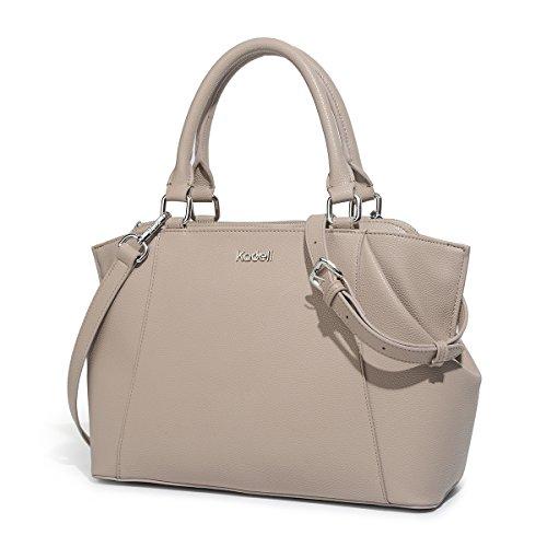 Kadell Top-handle borsetta di pelle di Donne Elegante Croce Body Purse Tote Bag Dottore Beige