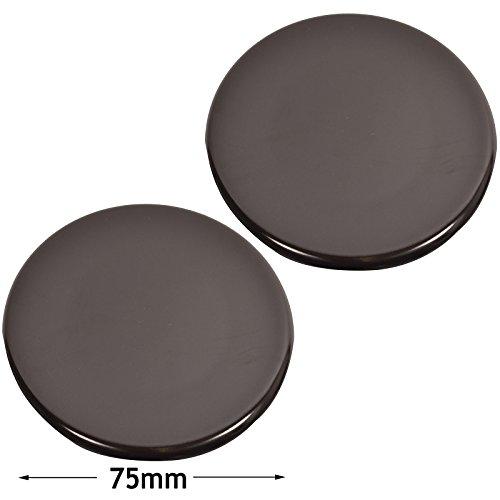 spares2go Medium Semi Schnelle Brenner Kappen für Kaminöfen Herd Ofen (schwarz Rapide 75mm, 2Stück) Fitment List C (Prelude 2 Cover)