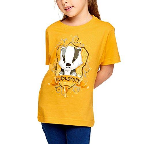 Elbenwald Harry Potter Kinder T-Shirt Magical Hufflepuff Baumwolle gelb - 146/152