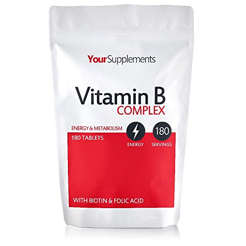 Your Supplements - Vitamin B Complex - 100% RDA Formula (180 Tablets) - Formula Vitamin B-complex