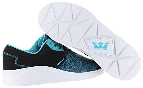 Supra Noiz, Unisex-Erwachsene Sneakers Black / blue atoll - white