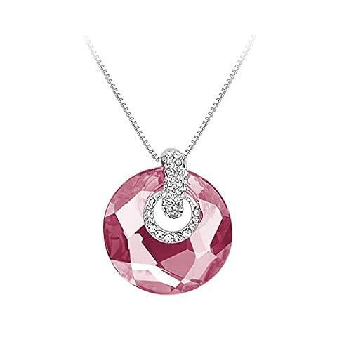 Mesdames Anneau De Mode Pendentif Cristal,Pink-OneSize