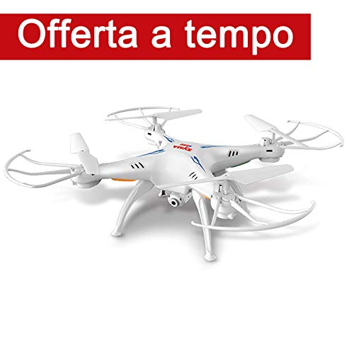 FPVRC SYMA X5SC(-1) Explorers Drone con Telecamera 720P HD 2.0MP Quadricottero RC Senza Testa Flip 3D una Chiave per Tornare 2.4G 4CH 6 Axis Gyro - RTF(Bianco)
